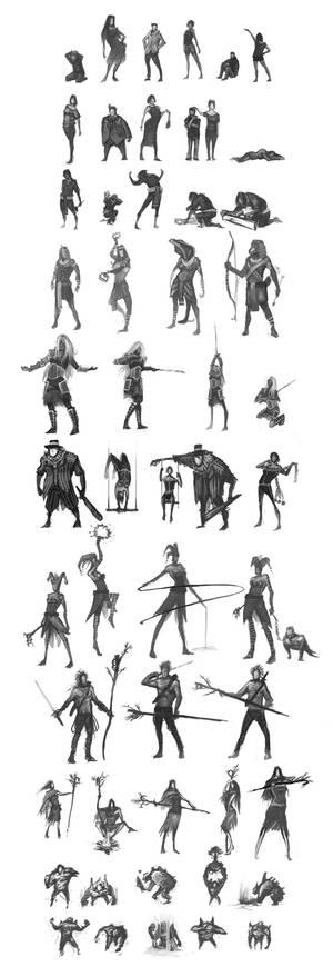 50 Random Sketches