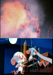 Pinky And Brain Crying Over Godzilla's death