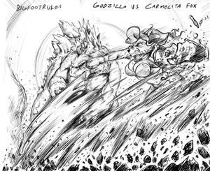 Godzilla vs Carma-Larga