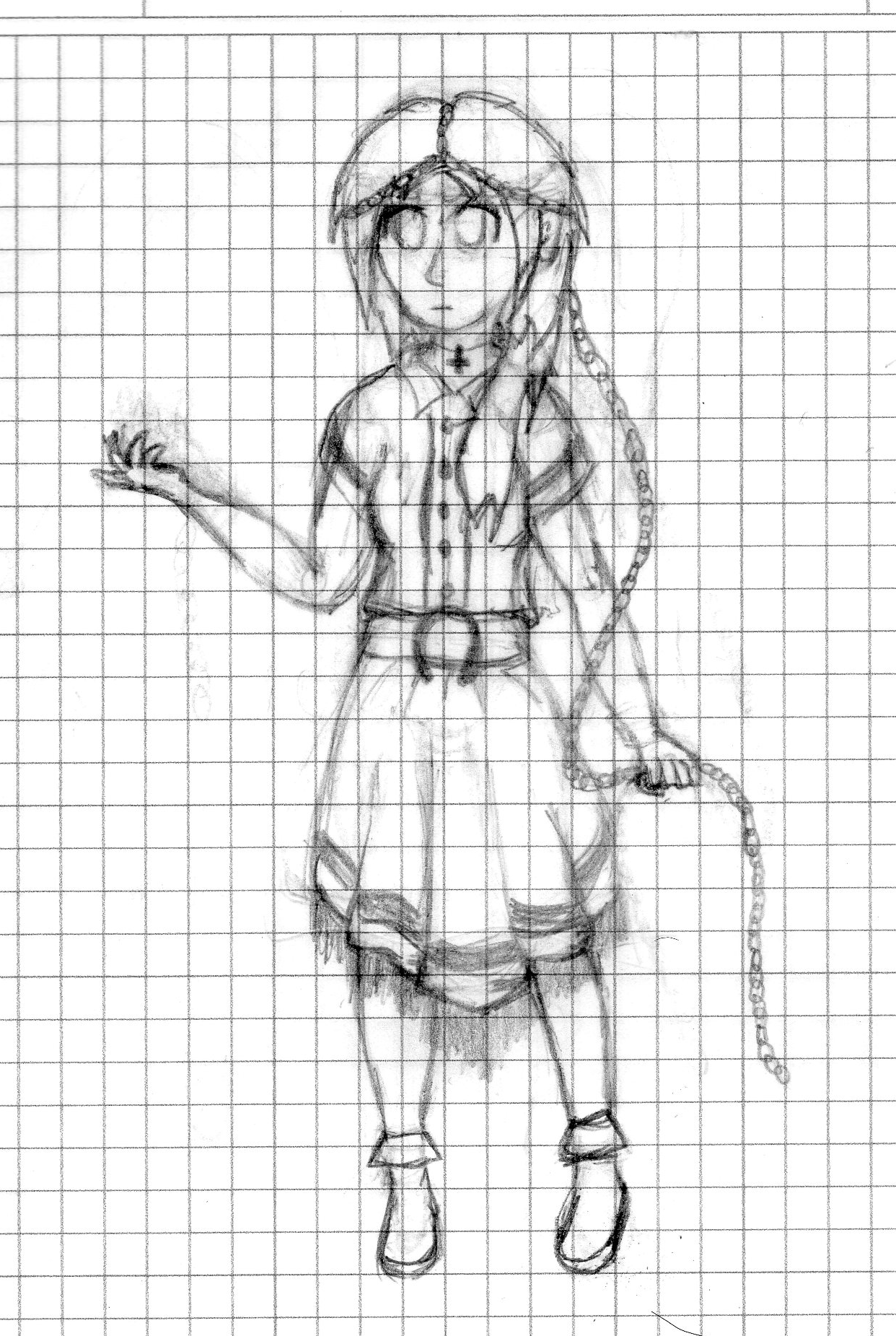 Nameless Mulanima Touhou OC WIP by FantasyTechnoWorld