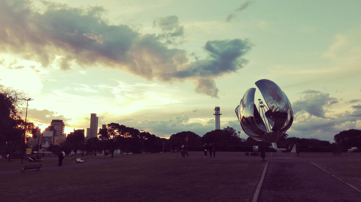 Floralis Generica in the afternoon by FantasyTechnoWorld