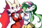 Braixen/May and Gardevoir/Mei