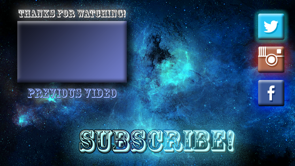 Free outro background galaxie 1 by thebignoobpony on deviantart for Outro image