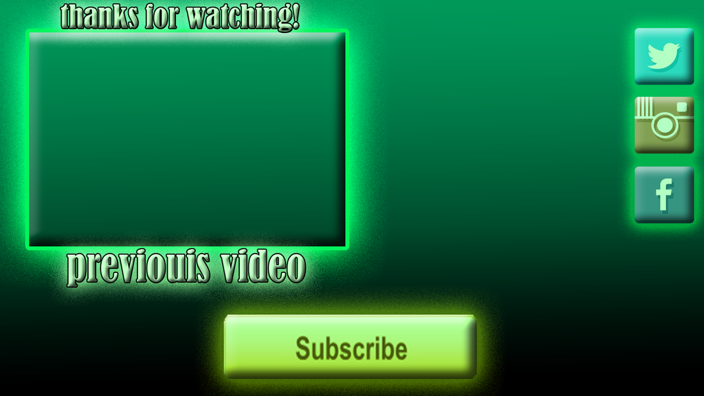 Free background outro green theme 1 by thebignoobpony on deviantart for Outro image