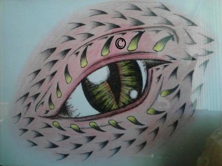 dragon eye by Blue-Eyed-Wonder