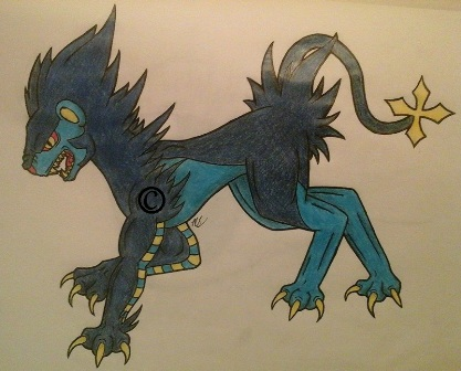 luxray finished by Blue-Eyed-Wonder