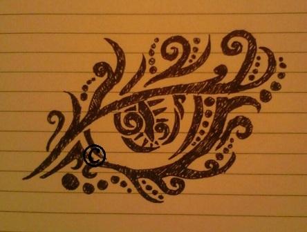 tribal eye doodle by Blue-Eyed-Wonder