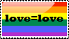 Love=love Gay Stamp by Madam--Kitty