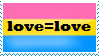 Love=love Pansexual Stamp by Madam--Kitty