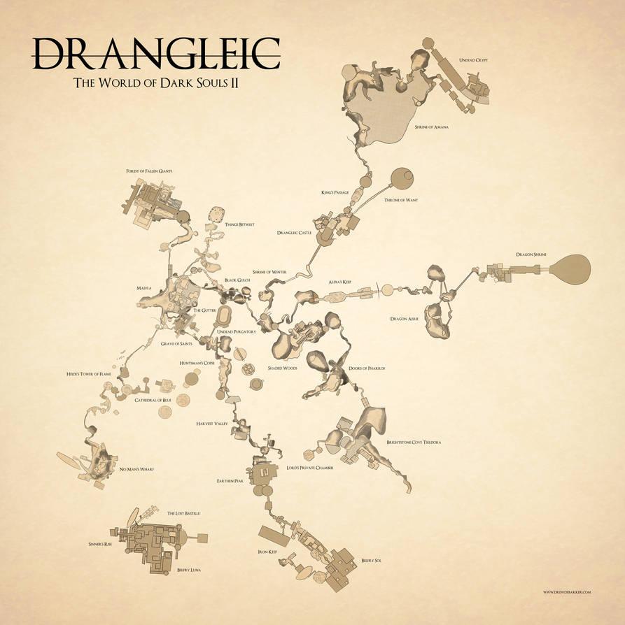 Dark Souls II Map by DrewDeBakker on DeviantArt