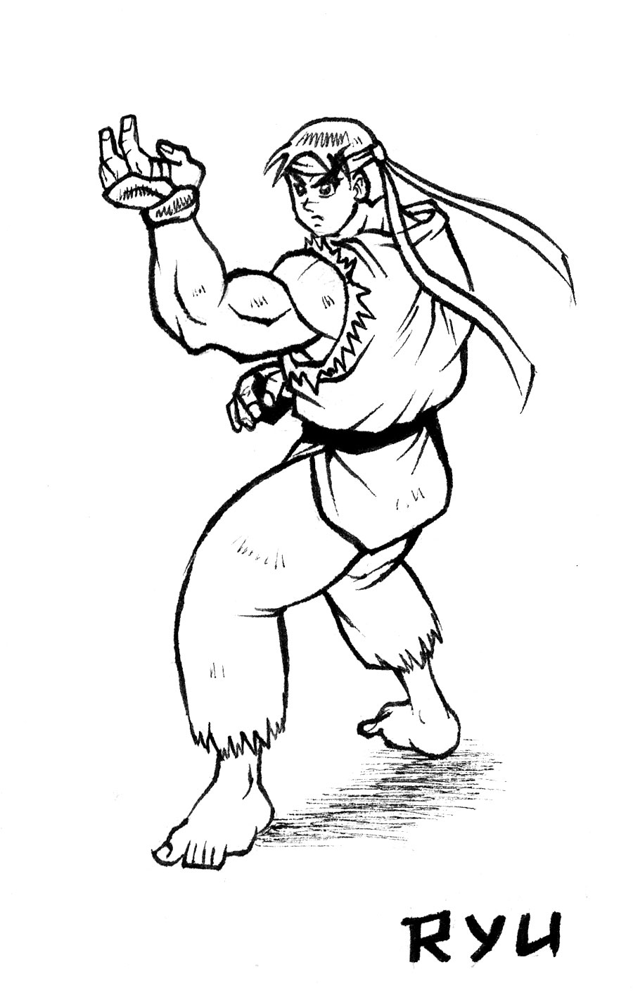 Ryu Street Fighter Drawing By Animegris On Deviantart