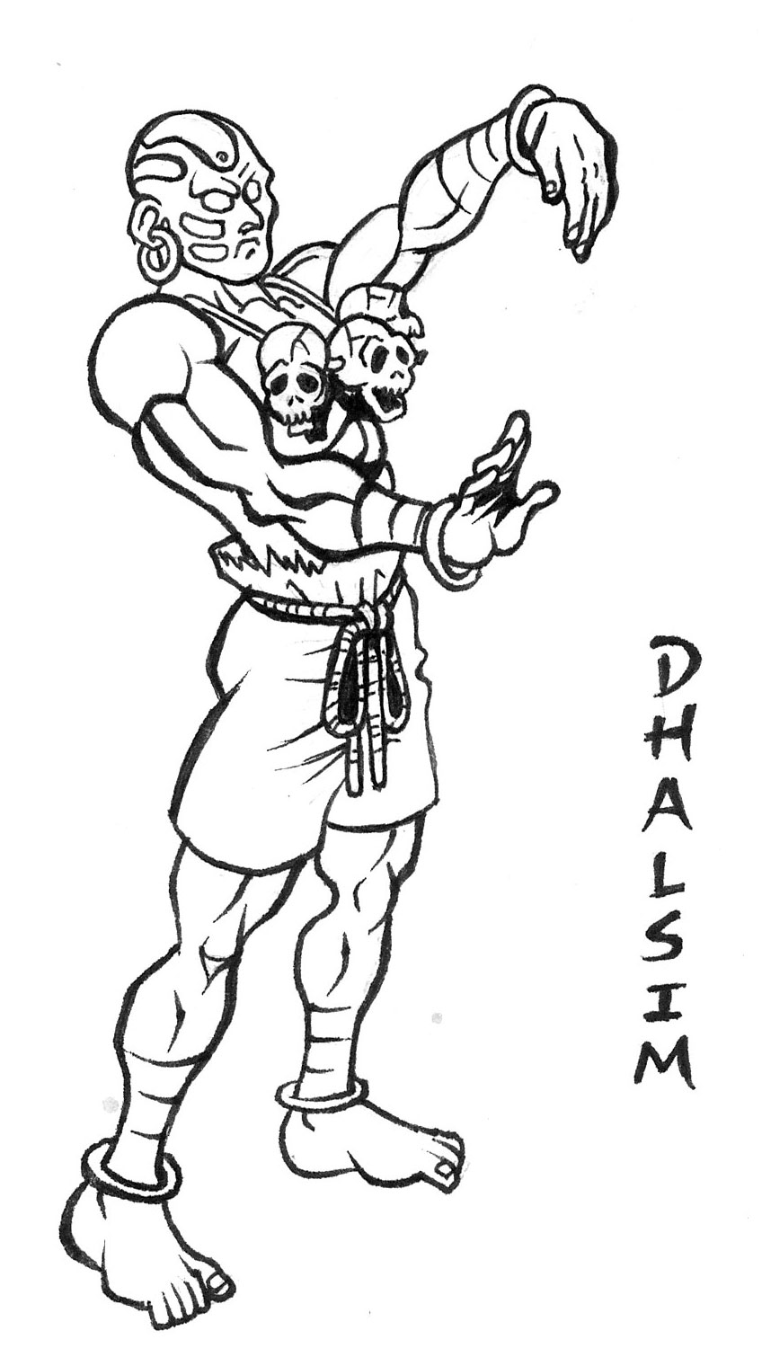 Dhalsim Street Fighter Drawing By Animegris On Deviantart