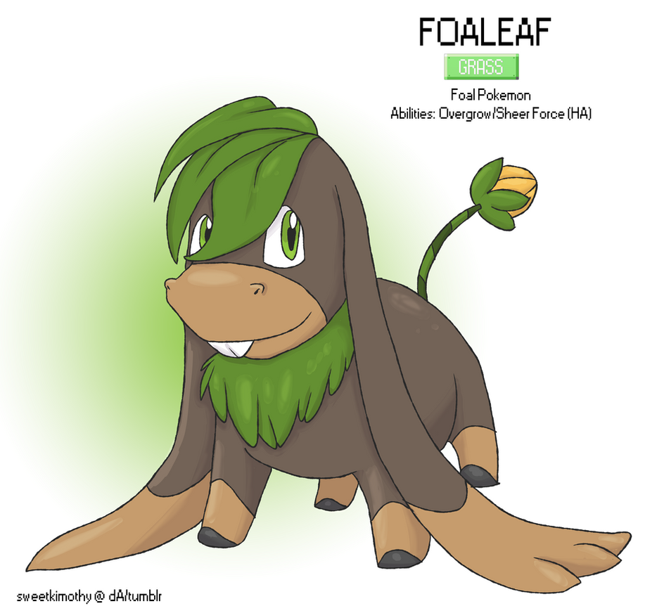 Pokemon Albion Region: #001 Foaleaf by sweetkimothy