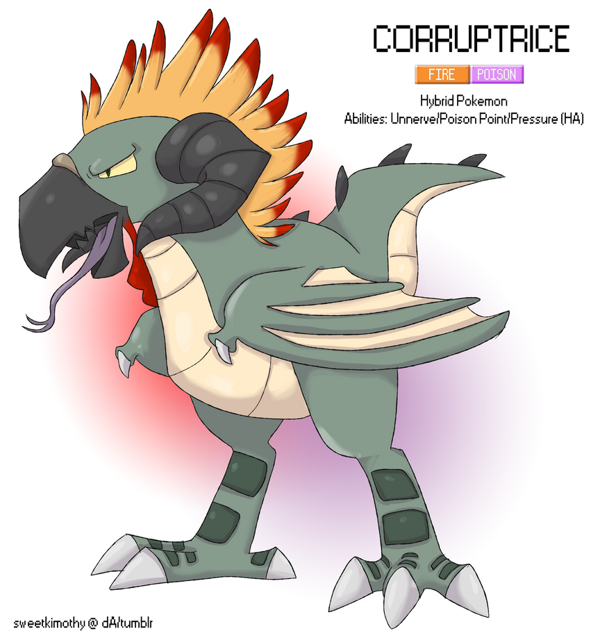 Pokemon Albion Region: #??? Corruptrice by sweetkimothy