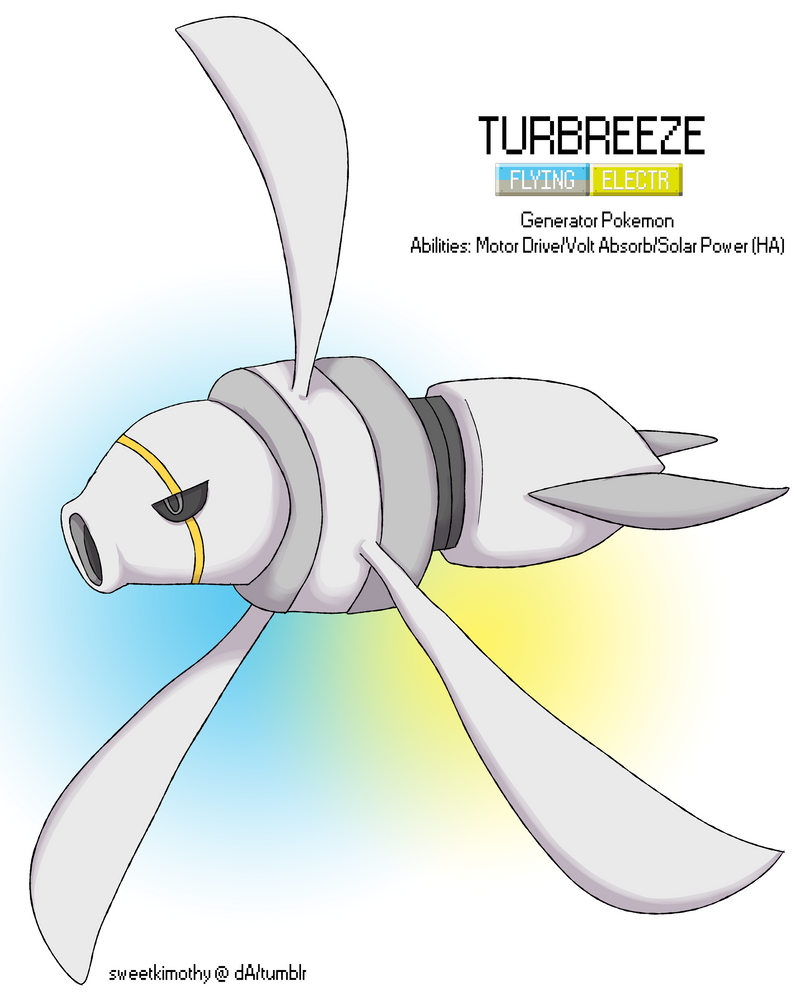 Pokemon Albion Region: #??? Turbreeze by sweetkimothy