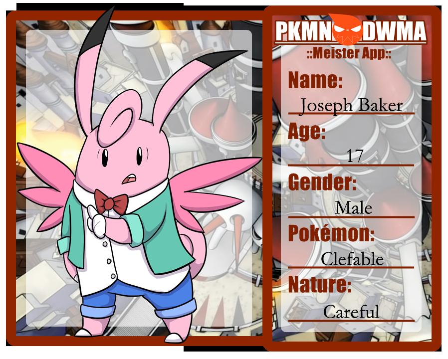 Pokemon DWMA App: Jospeh by sweetkimothy