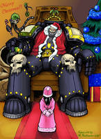Christmas with 40K Chaplain by tyrantwache