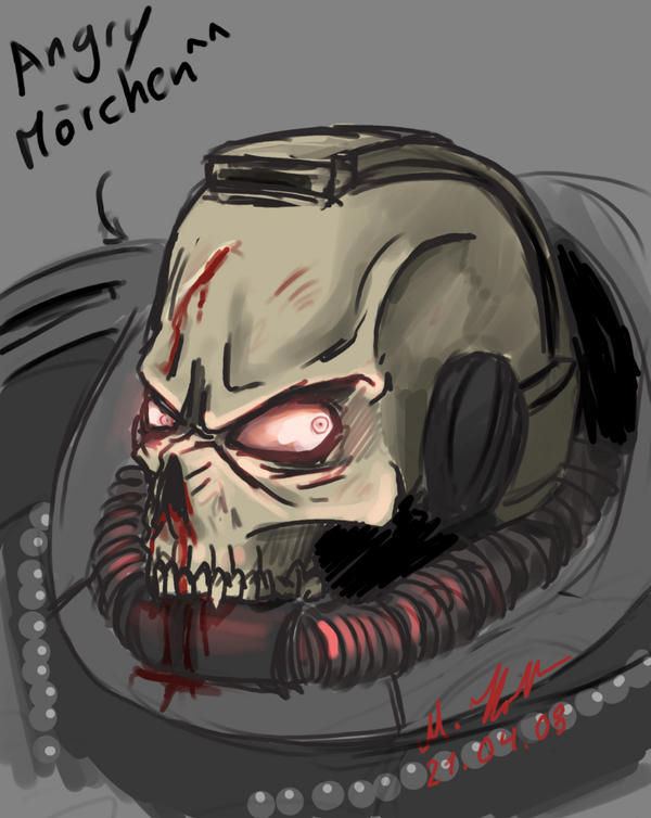 Angry Morchen Sketch by tyrantwache