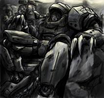 Hurt Warrior by tyrantwache