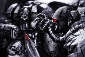 Cyborg Fight by tyrantwache
