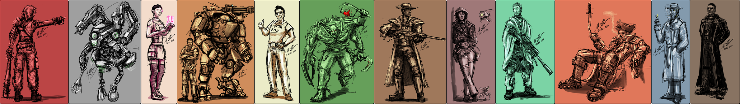 Fallout 4 Companions redesigne by tyrantwache