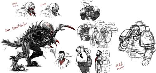 Some Vampyr 40k doodles