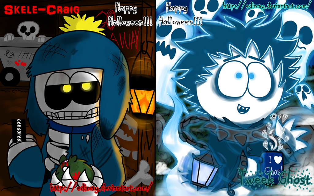 Happy Halloween card (south park characters) by Edimay on DeviantArt
