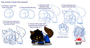 How to draw a South Park werewolf
