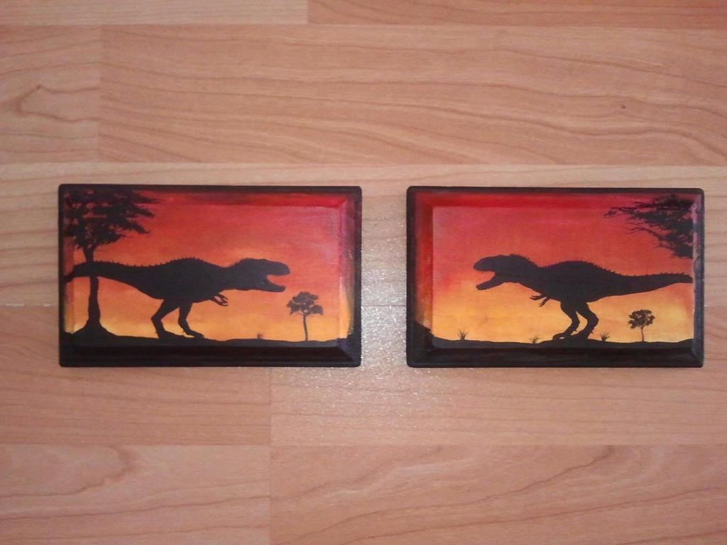 Tyrannosaurus Pair by Tyrannosaur17