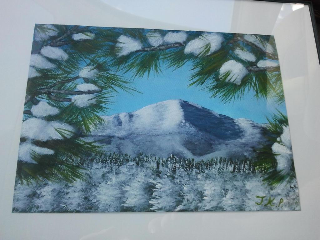 Pikes Peak Painting #1 by Tyrannosaur17