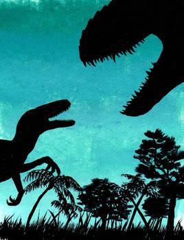 Jurassic World Fan Art - I. Rex and Raptor