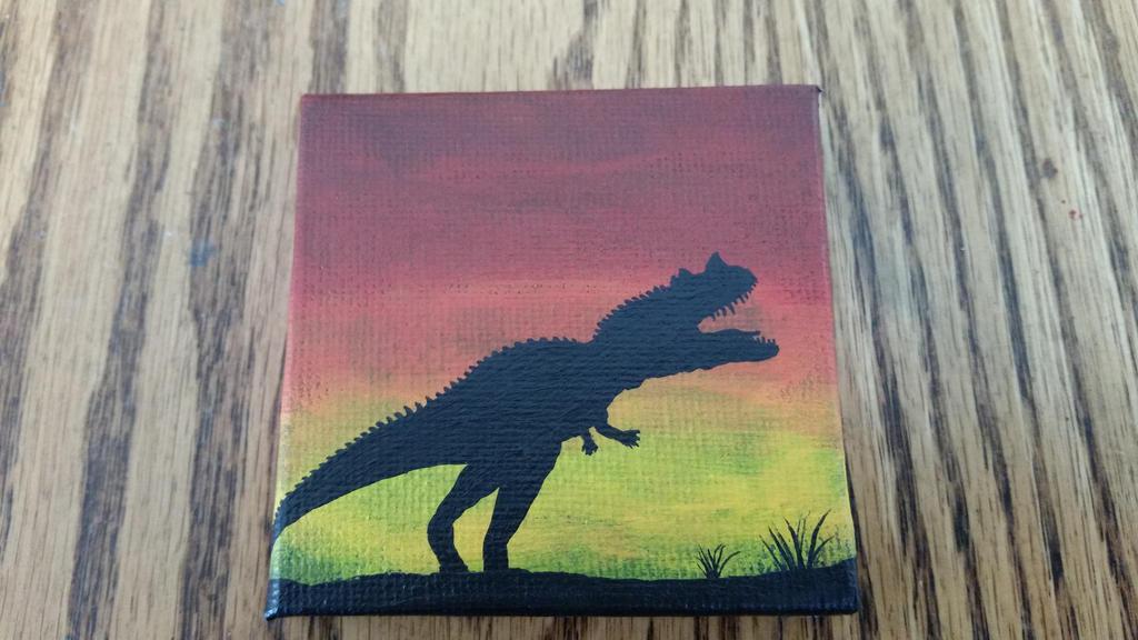 Ceratosaurus on Mini Canvas by Tyrannosaur17