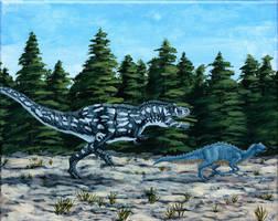 Daspletosaurus Chasing Dinner
