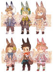 ADOPTABLE SET 7: MORI BUNNIES [CLOSED!]
