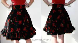 Red black lolita-esque skirt by mirime-duinram