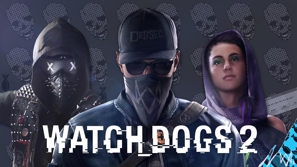 Watch Dogs 2 Wrench Fanart: Watch Dogs 2 DedSec Trio _/fan Wallpaper By Digital-Zky On