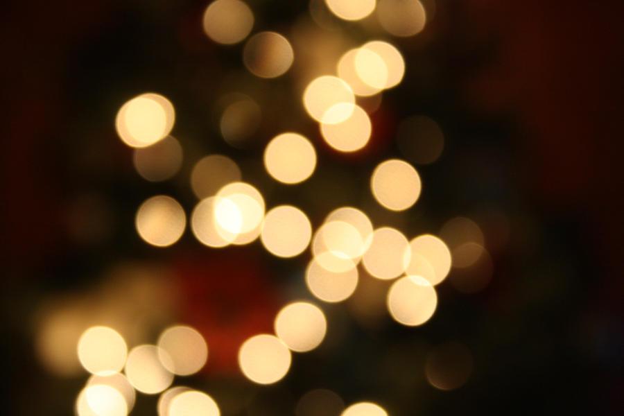 Christmas bokeh by whitetrashXlove