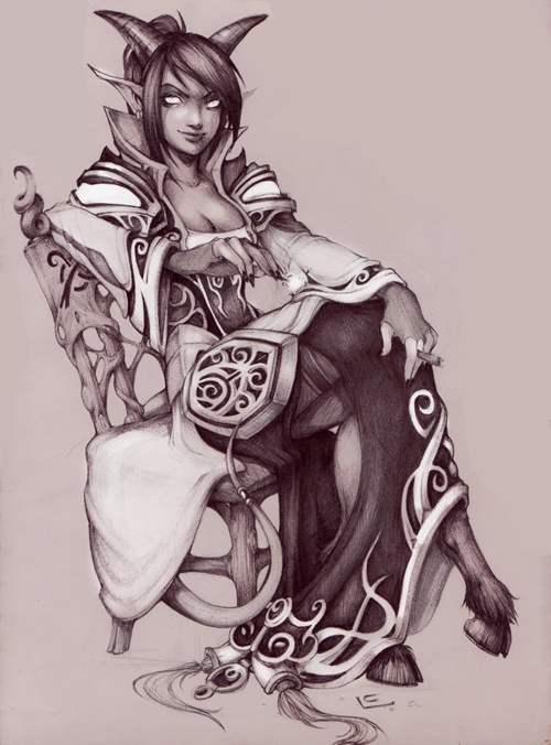 Draenei Priest by LisaCunha
