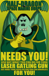 Half Dragon Space Marine Corps Needs You! by ThePerturbedDragon