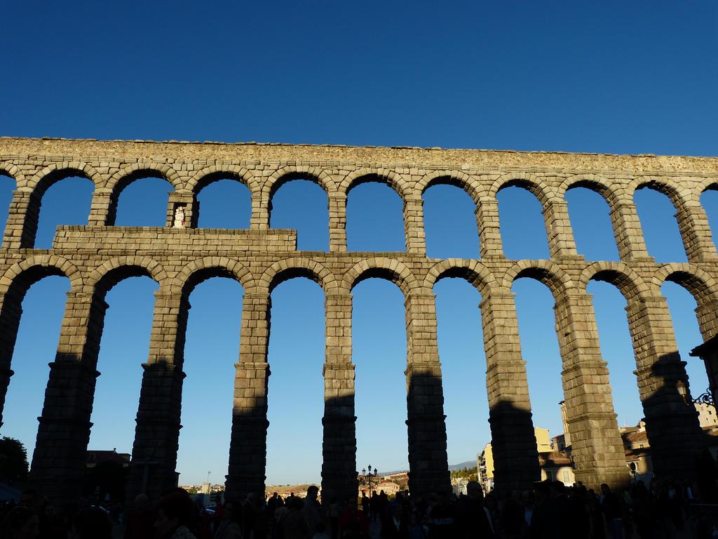Roman aqueduct Segovia Spain by Meccaphi