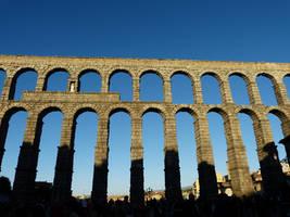 Roman aqueduct Segovia Spain by StefanoFiocchi