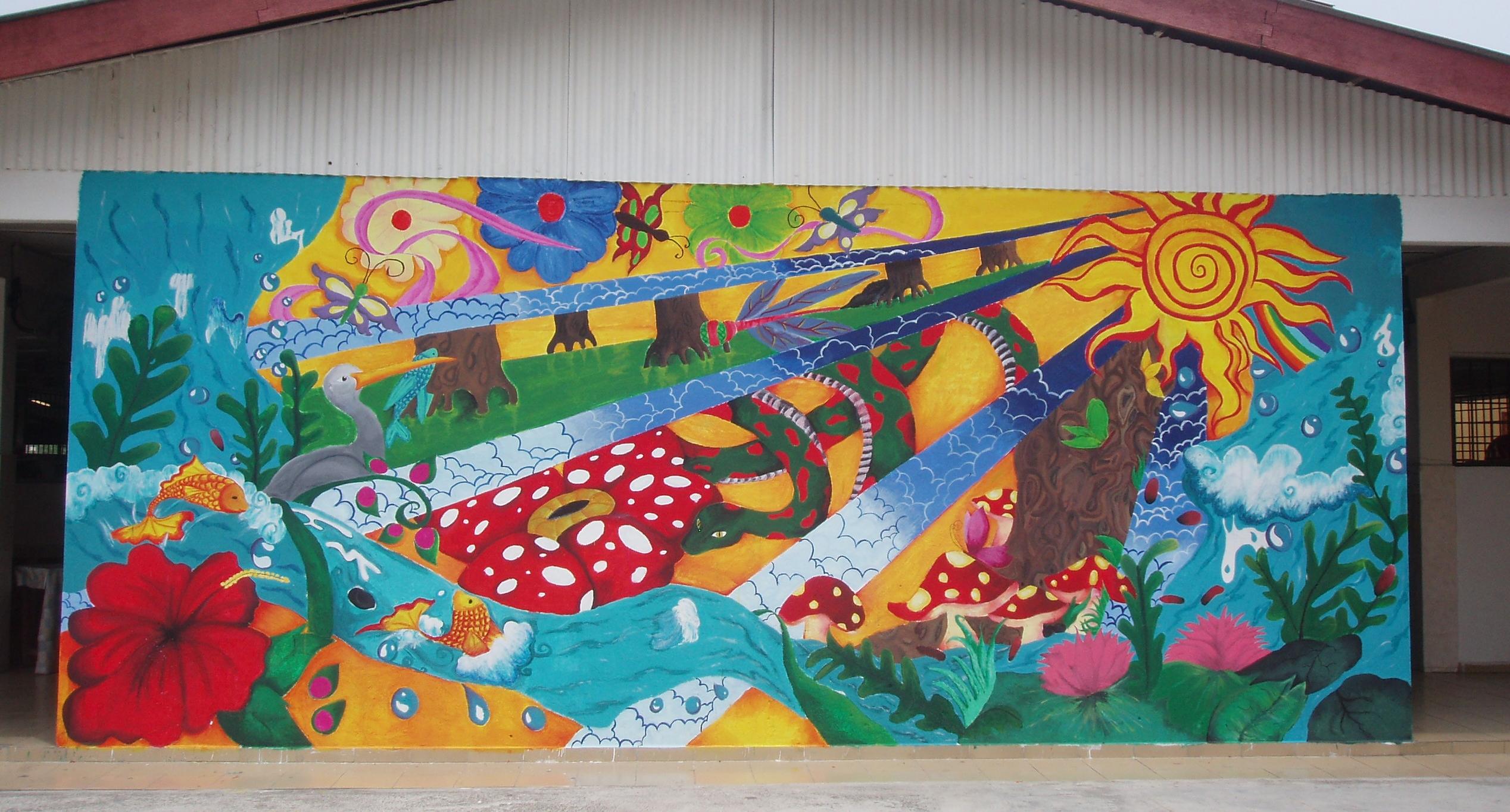 School mural by muzicfan7 on deviantart for Mural for school