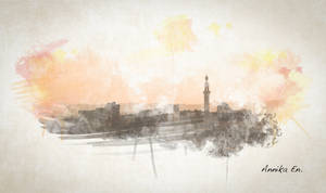 Watercolor Egypt by kiwikruemel