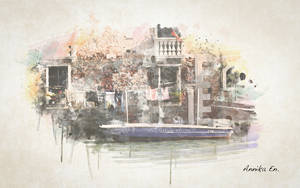 Watercolor Venedig by kiwikruemel