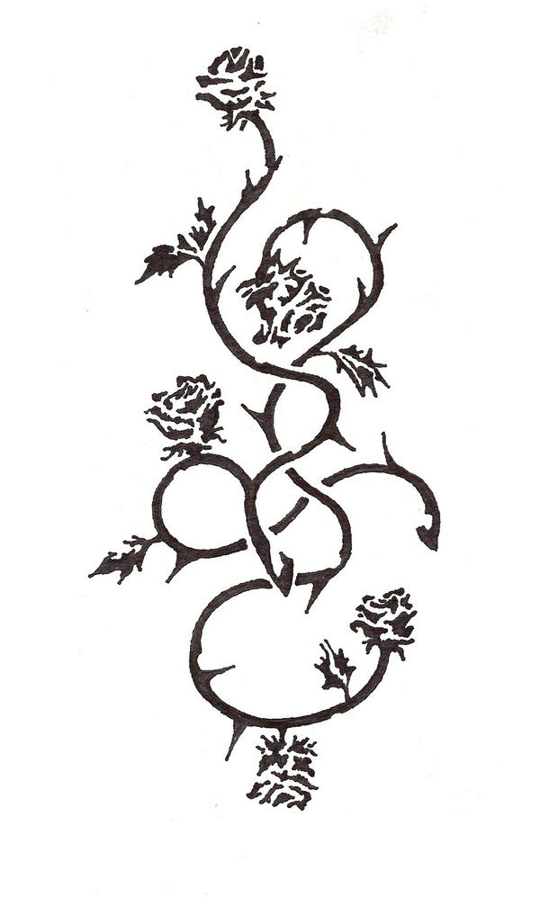 Rose Vines by theSNESRose Vine Drawing Tattoo