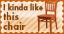 I kinda like this chair -stamp by leda456