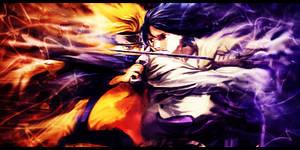 Naruto vs Sasuke Signature by MajorasKeyblade
