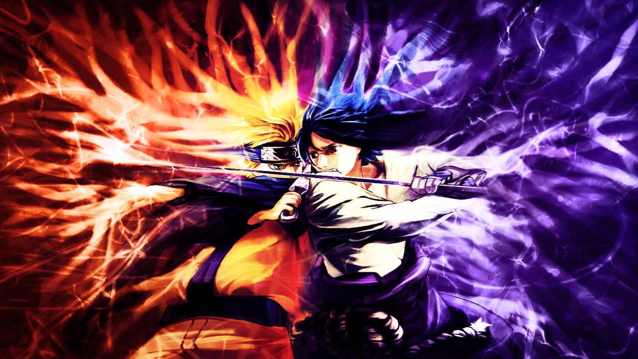 Naruto vs Sasuke Wallpaper by MajorasKeyblade on DeviantArt