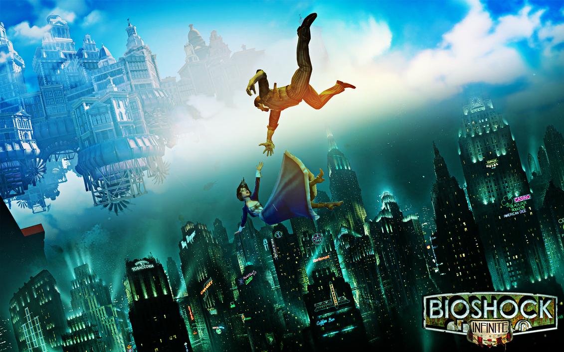 Bioshock 1/Infinite Wallpaper by MajorasKeyblade