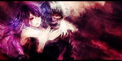 Tokyo Ghoul Kaneki and Rize Signature by MajorasKeyblade